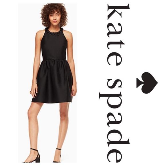 b95155640cf New Kate Spade Poppy Embellished Mini Dres Black
